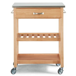 Erving Kitchen Cart with Stainless Steel Top