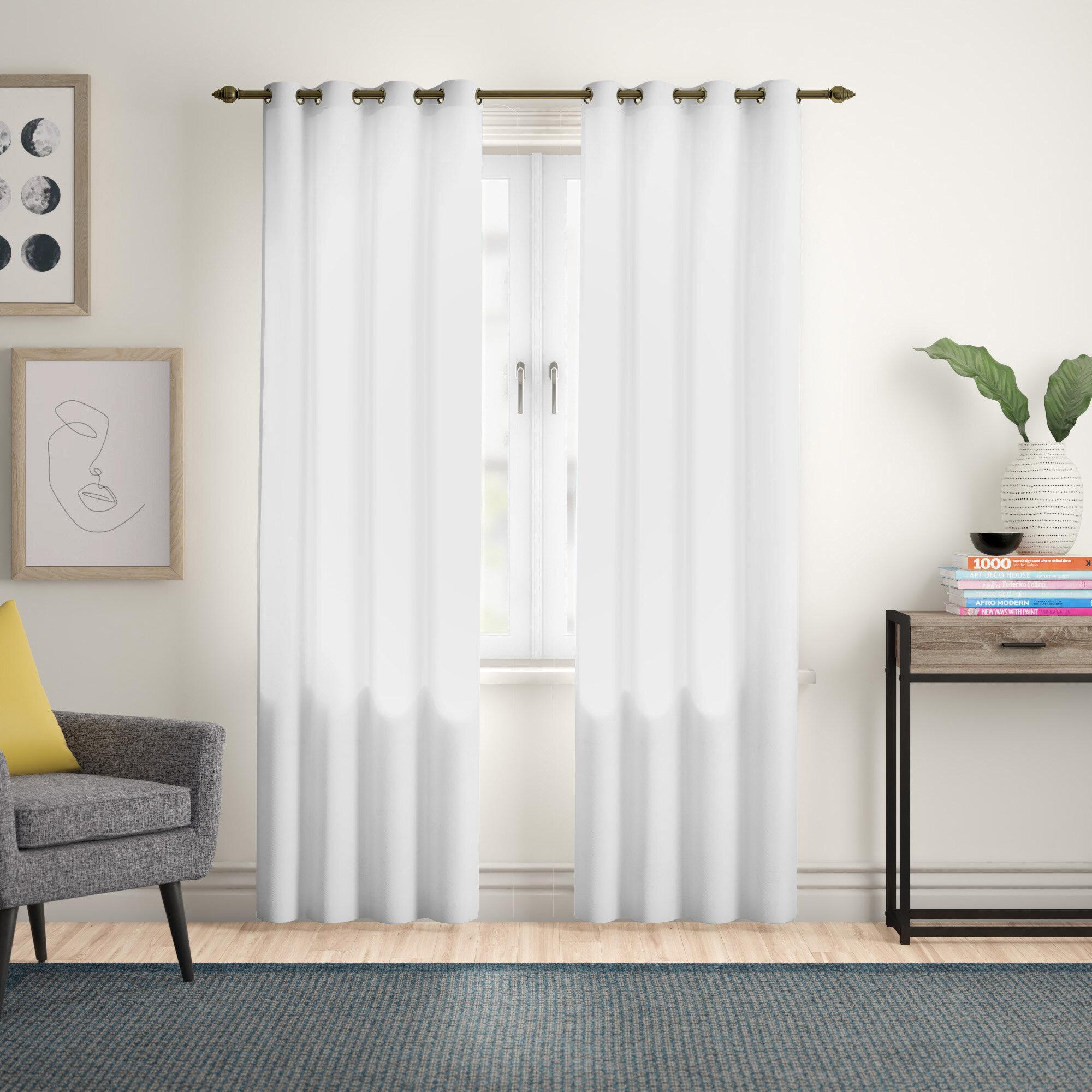Zipcode Design Irene Solid Semi Sheer Thermal Grommet Single Curtain Panel Reviews Wayfair