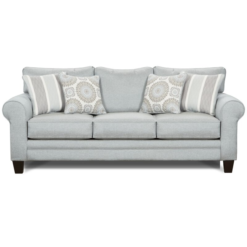 Darby Home Co Batson Revolution Performance Fabrics 88 Round Arm Sofa Reviews Wayfair
