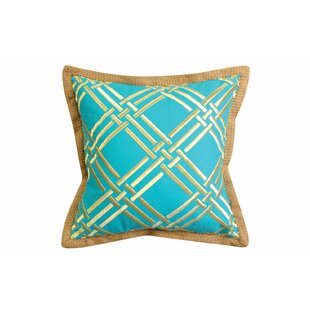 Basket Weave Modern Embroidered Throw Pillow