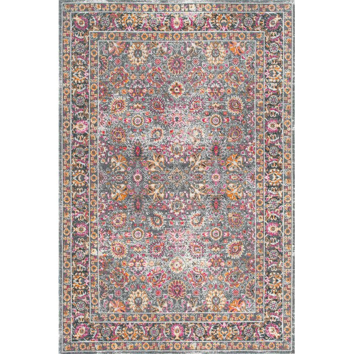 Khalil Pink Gray Area Rug