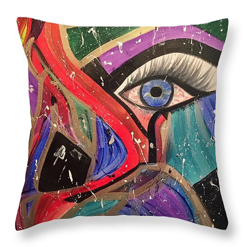 Ebern Designs Blakeman Abstract Pillow Wayfair