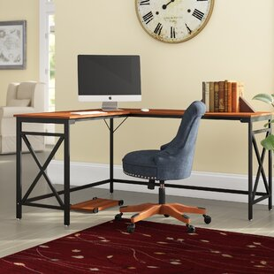Dipama Solid Wood L-Shape Writing Desk