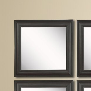 Top Reviews Kimzey Brazilian Walnut Wall Mirror (Set of 4) By Charlton Home