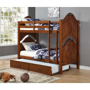 Forestport Wooden Twin over Twin Bunk Bed