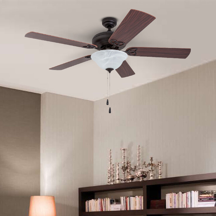 Classical Led Ceiling Fan With Light For Living Room Bedroom Dining Room Lighting And Fan Wind Three Leaves Led Fans Light Reliable Performance Ceiling Lights & Fans Ceiling Fans