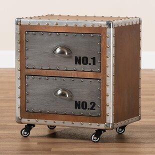 Best Choices Rawson Metal 2 Drawer Nightstand by Williston Forge