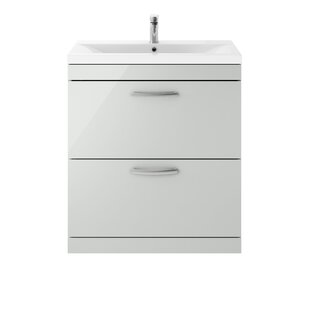 Wesolowski 805mm Free-standing Single Vanity Unit By Metro Lane