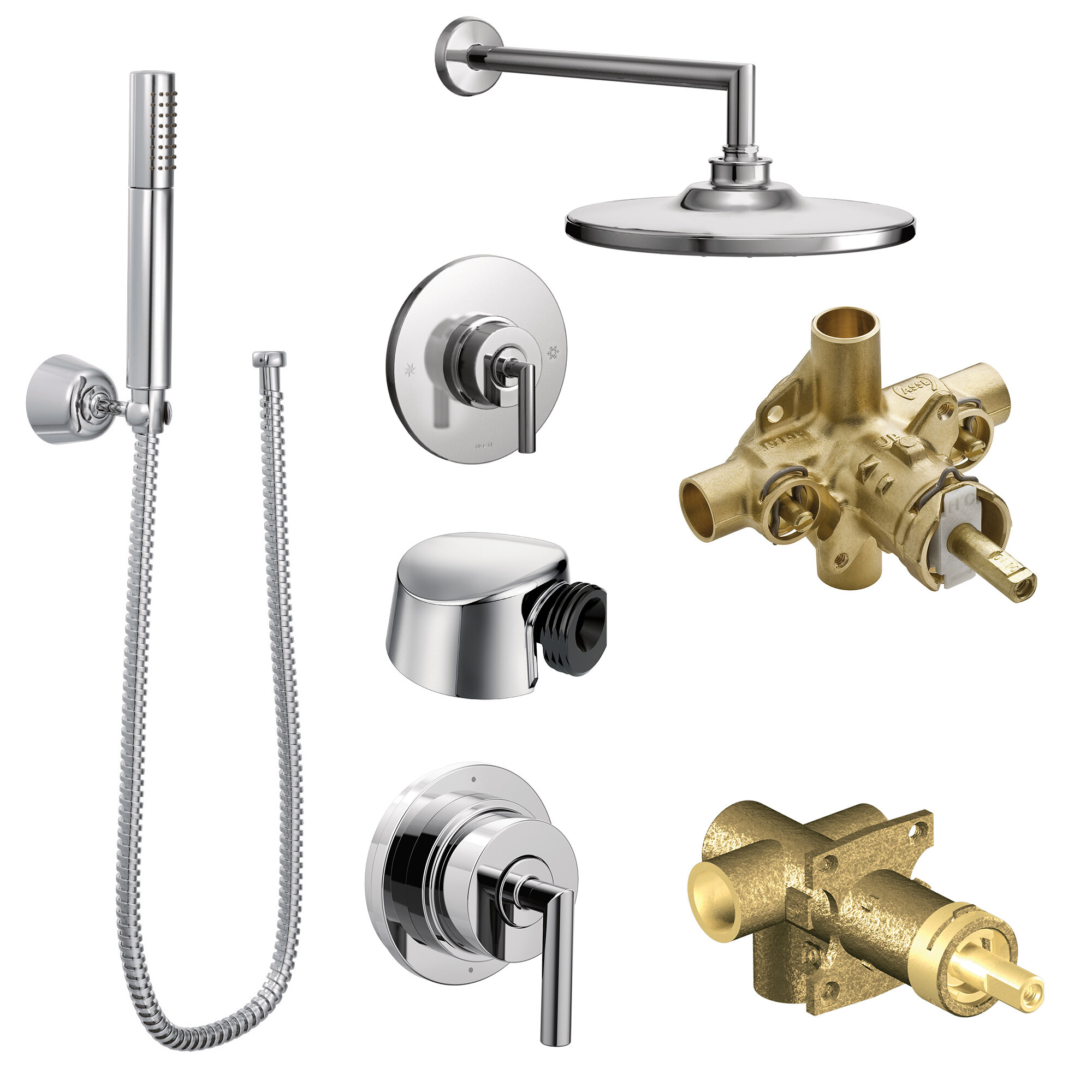Moen Arris Complete Shower System With Rough In Valve Wayfair