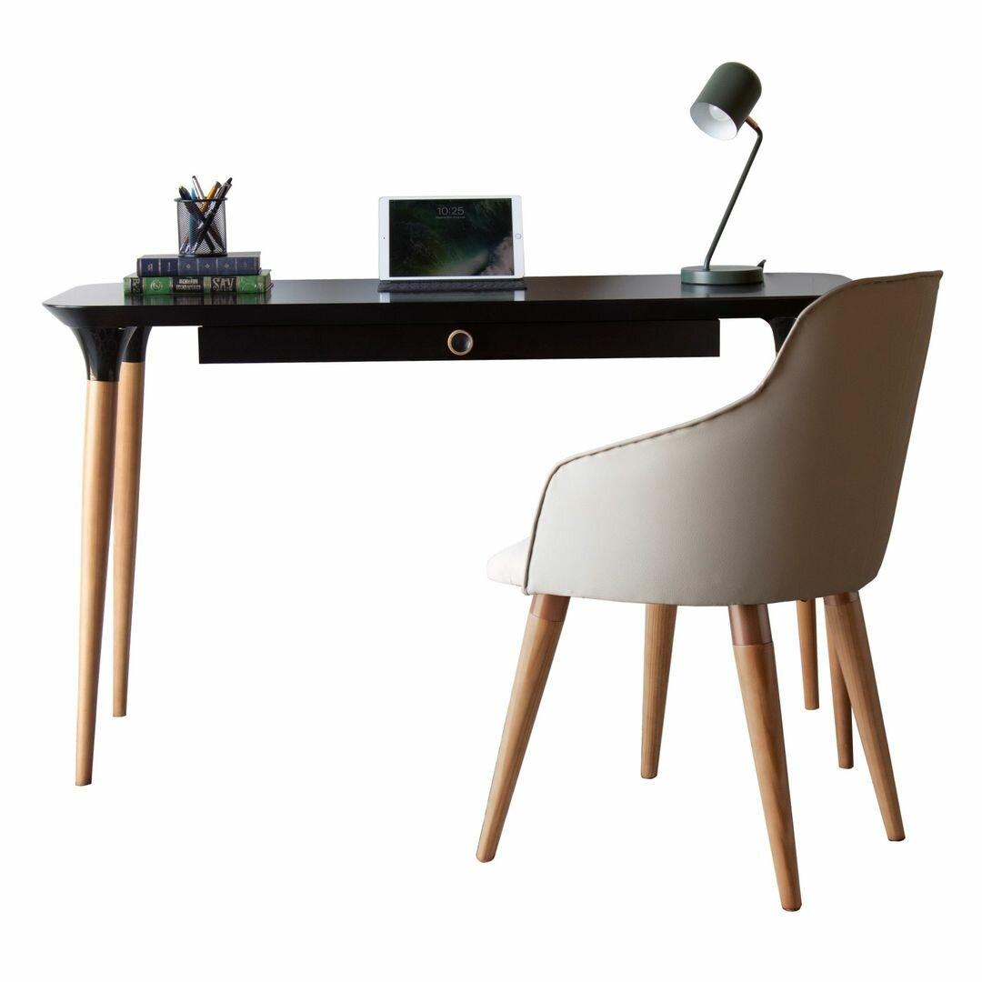 Corrigan Studio 2 Piece Homedock Office Desk And Martha Accent Chair Set Wayfair Ca