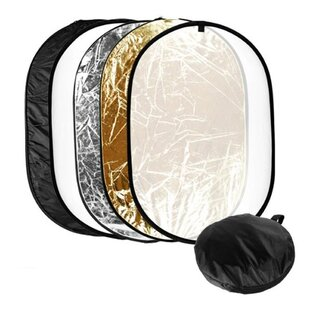 Lusana Studio Photo Video Collapsible Disc Lighting Reflector 5-in-1 Multi-Spotlight