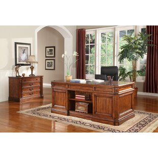 Gunnersbury 2 Piece Desk by Astoria Grand New