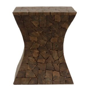 Yellow Pine Diabolo Decorative Stool By Union Rustic