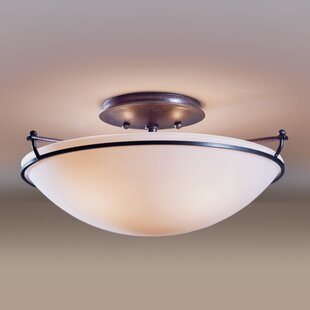 2-Light Semi Flush Mount by Hu..