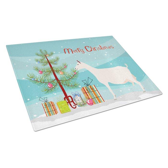 Carolines Treasures BB9256LCB Saanen Goat Christmas Chopping Board Large