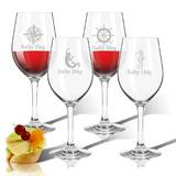 Personalized 4-Piece 12 oz. Plastic All Purpose Wine Glass Set by Carved Solutions