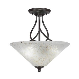 Skypark 3-Light Semi-Flush Mount by Winston Porter