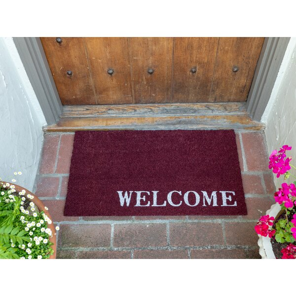 Winston Porter Gabbard Coir Welcome 17 X 30 Non Slip Outdoor Door Mat Wayfair