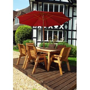 Faulkner 6 Seater Dining Set With Cushions By Union Rustic