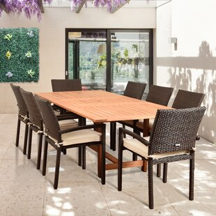 Brayden Studio Imler 9 Piece Dining Set with Cushions
