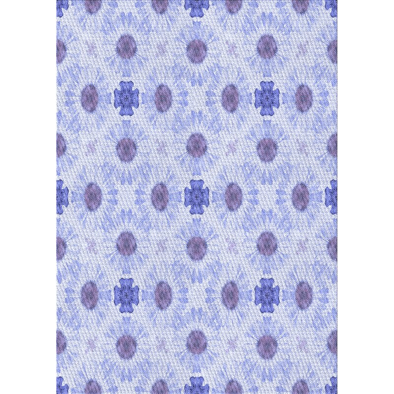 East Urban Home Voss Floral Wool Blue Area Rug Wayfair