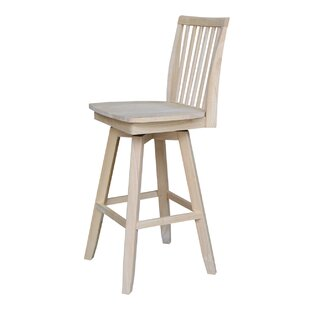 Rohnert Park 30 Swivel Bar Stool Loon Peak