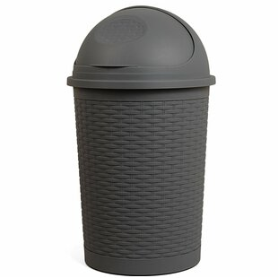 Superior Performance Round Roll Up 10 Gallon Swing Top Trash Can