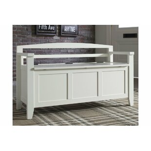 Charlton Home Colter Wood Storage Bench