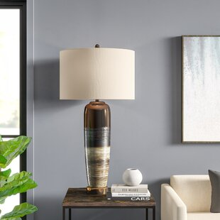 Pavilion Transitional Ceramic and Metal Base 41 Table Lamp