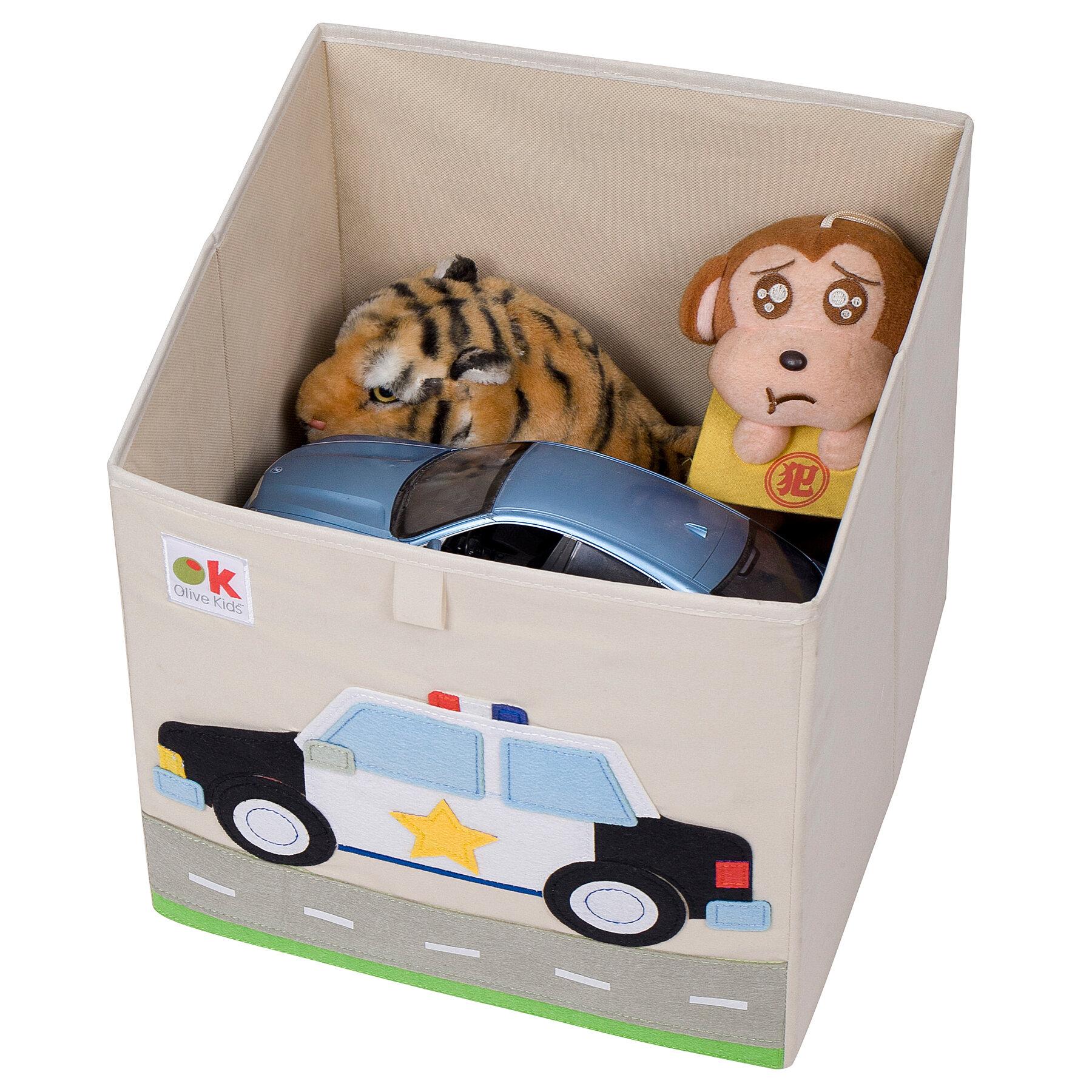 Wildkin Olive Kids Police Car Toy Box Wayfair