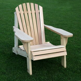 Cedar Furniture and Accessories American Solid Wood Adirondack Chair