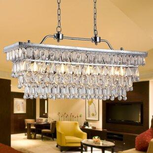 Warehouse of Tiffany Willow 4-Light Crystal Kitchen Island Pendant