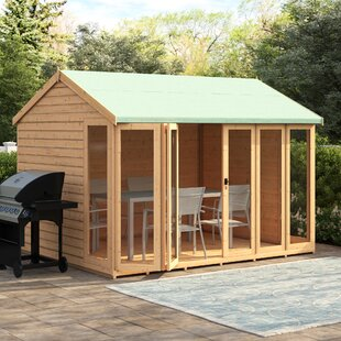 10 X 8 Ft. Shiplap Summer House By Sol 72 Outdoor
