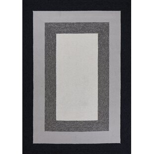 Hamptons Highview Hand-Hooked Charcoal Indoor/Outdoor Area Rug
