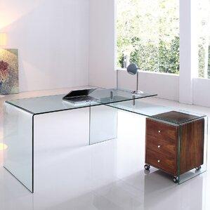 Bogardus Executive Desk With Clear Glass
