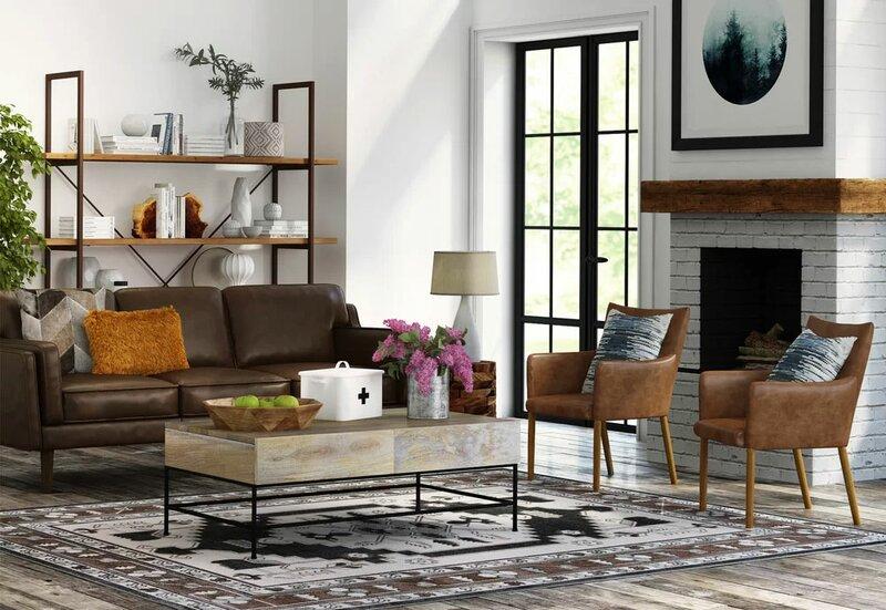 Pleasing Warren Mid Century Modern Leather Sofa Uwap Interior Chair Design Uwaporg