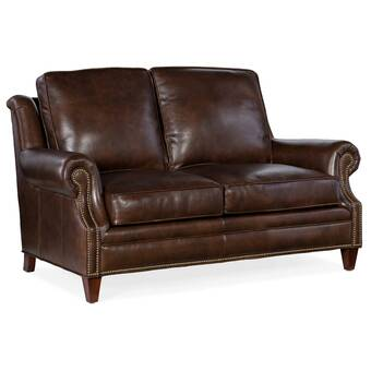 Bradington Young Kane Genuine Leather 69 5 Square Arm Sofa Wayfair