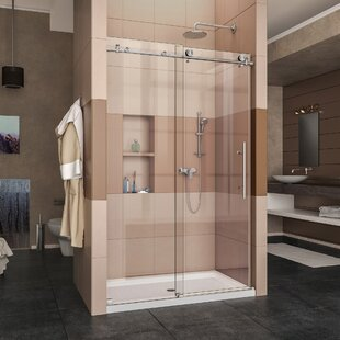 Order Enigma-X 48 x 76 Single Sliding Frameless Shower Door with Clearmax™ Technology ByDreamLine