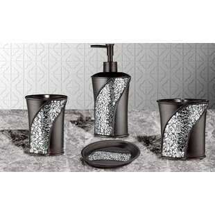 Affordable Price Rivet 4 Piece Bathroom Accessory Set ByWilla Arlo Interiors