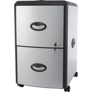Storex 2-Drawer Vertical Filing Cabinet