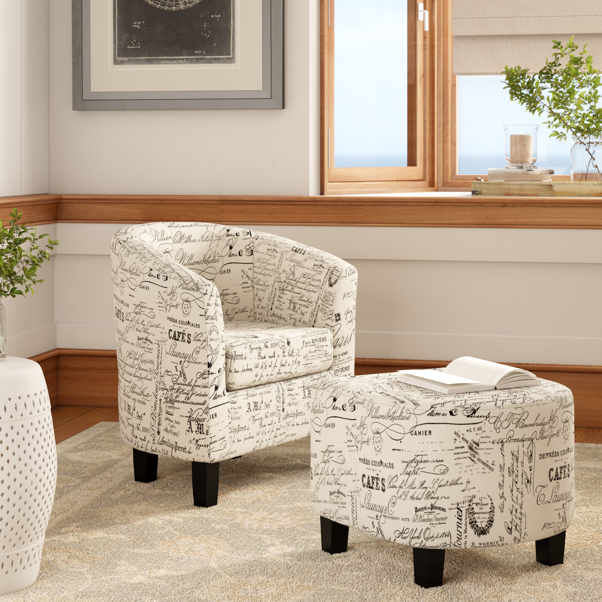 Picture of: Round Barrel Chairs Wayfair
