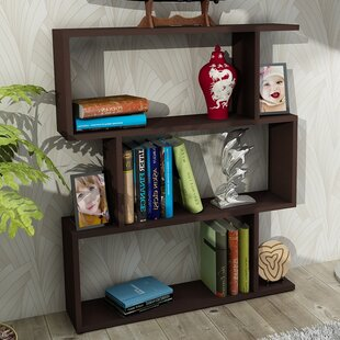 Best Reviews Broad Geometric Bookcase by Ebern Designs