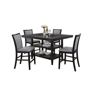 Alysa 5 Piece Counter Height Dining Set b..
