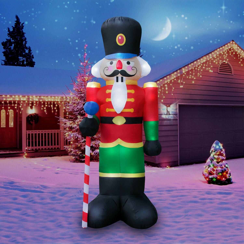 The Holiday Aisle Christmas Inflatable Giant 8\' Nutcracker Christmas ...