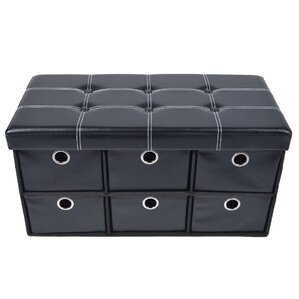 Collapsible Solid 6 Drawer Storage Ottoman by Symple Stuff
