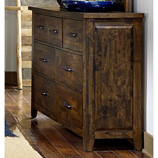 Capra Wooden 7 Drawer Double Dresser