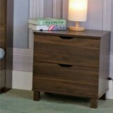 Marcus 2 - Drawer Nightstand in Dark Walnut by Ebern Designs
