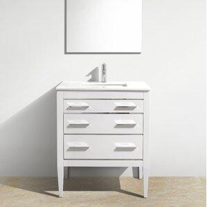 Eiffel 30u0027u0027 Single Bathroom Vanity Set