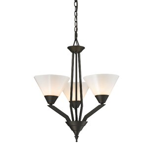 Abrielle 3-Light Shaded Chandelier by Ivy Bronx