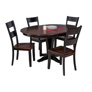Maryrose 5 Piece Solid Wood Dining Set with Butterfly Leaf Table